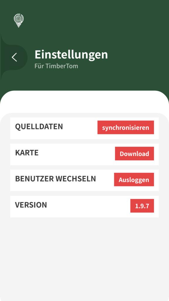Holzaufnahme App Stammdaten